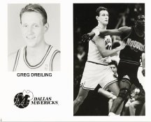 Greg Dreiling Mavericks Team Issue Photo 8x10
