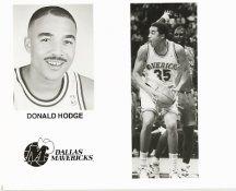 Donald Hodge Mavericks Team Issue Photo 8x10