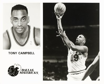 Tony Campbell Mavericks Team Issue Photo 8x10