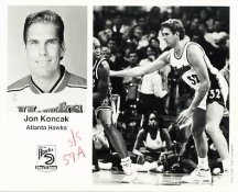 Jon Koncak Hawks Team Issue Photo 8x10