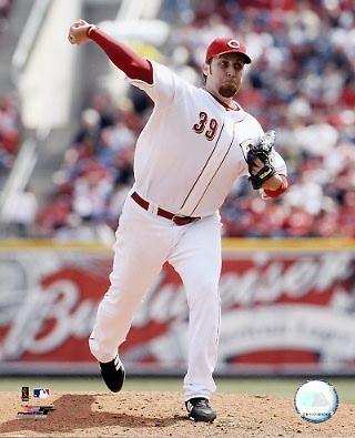 Aaron Harang LIMITED STOCK Cincinnati Reds 8X10 Photo