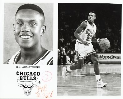 B.J. Armstrong Bulls Team Issue Photo 8x10