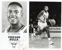 B.J. Armstrong Bulls Team Issue Photo 8x10