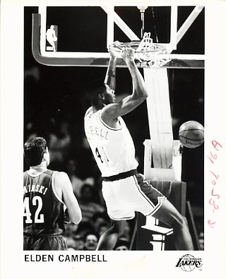 Elden Campbell Lakers Team Issue Photo 8x10