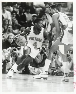 Joe Dumars Pistons Team Issue Photo 8x10