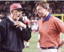 Steve Spurrier & Lou Holtz Florida Gators & Carolina 8X10 Photo