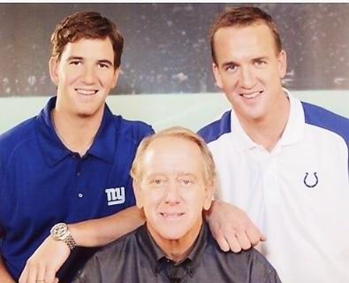 Peyton Manning, Eli Manning, Archie Manning Family 8X10 Photo