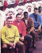 Roger Maris, Tim McCarver, Bob Gibson Cardinals 8X10 Photo