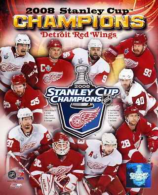 Detroit 2008 Stanley Cup Champs Composite LIMITED STOCK 8x10 Photo