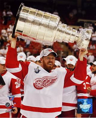 Johan Franzen 2008 Stanley Cup Red Wings 8x10 Photo