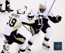 Petr Sykora & Ryan Whitney Game 5 2008 Stanley Cup 3rd Overtime Goal LIMITED STOCK Pittsburgh Penguins 8x10 Photo