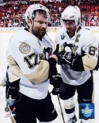 Petr Sykora & Sidney Crosby Game 5 2008 Stanley Cup 3rd Overtime Goal LIMITED STOCK Pittsburgh Penguins 8x10 Photo