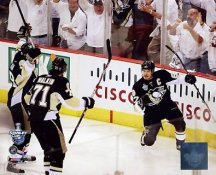 Sidney Crosby, Evgeni Malkin & Marian Hossa LIMITED STOCK Game 3 2008 Stanley Cup Pittsburgh Penguins 8x10 Photo