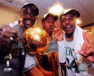 Ray Allen / Paul Pierce / Kevin Garnett 2008 Champs Celtics 8X10 Photo LIMITED STOCK