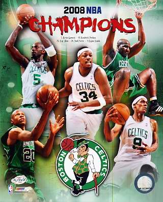 Celtics 2008 Champs Composite Boston 8X10 Photo LIMITED STOCK