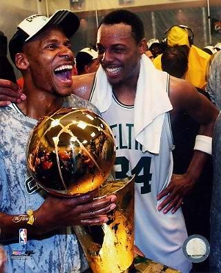 Ray Allen / Paul Pierce LIMITED STOCK 2008 Champs Celtics 8X10 Photo