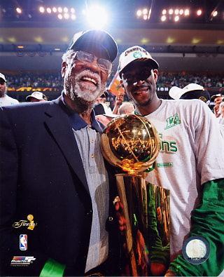 Bill Russell / Kevin Garnett 2008 Champs Celtics 8X10 Photo LIMITED STOCK