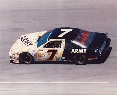 Alan Kulwicki Army Car 8X10 Photo   LIMITED STOCK