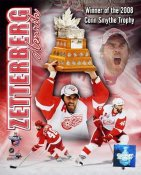 Henrik Zetterberg with Conn Smythe 2008 LIMITED STOCK Stanley Cup 8x10 Photo