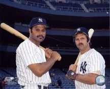 Chris Chambliss & Thurman Munson New York Yankees 8X10 Photo