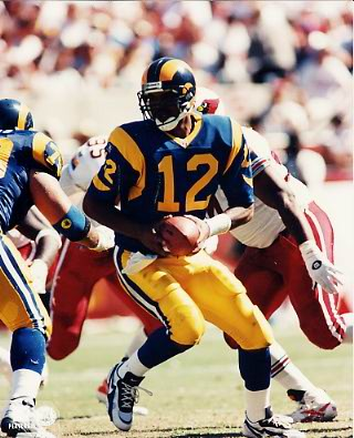 Tony Banks G1 OUT OF PRINT Rams 8X10 Photo