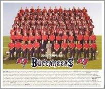 "Tampa Bay 2003 Super Bowl 37 Cardboard Stock w/ team history on back 8"" x 9-1/2"" Photo"