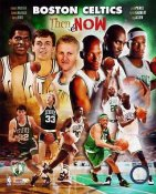Boston Celtics Then & Now 8X10 Photo LIMITED STOCK