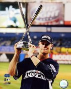 Justin Morneau W/2008 Home Run Derby Trophy LIMITED STOCK Minnesota Twins 8X10 Photo