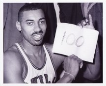 "Wilt Chamberlain ""100"" Philadelphia 76ers 8x10 Photos LIMITED STOCK"