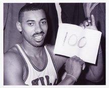 "Wilt Chamberlain ""100"" Philadelphia 76ers 8x10 Photos LIMITED STOCK"
