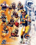 Kurt Warner, Isaac Bruce, Marshall Faulk 1999 St. Louis Rams 8X10 Photo