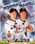 Joe Mauer & Justin Morneau LIMITED STOCK Minnesota Twins 8X10 Photo