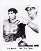 Bear Bryant & Joe Namath Alabama Crimson Tide 8X10 Photo