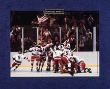 USA 1980 Olympic Hockey Champions RARE Miracle On Ice (Story on Back) 8X10 Photo