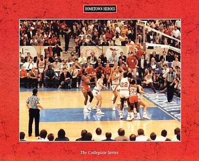 Champions 1987 Indiana Hoosiers Final Shot to win (Story on Back) 8X10 Glossy Card Stock SUPER SALE!