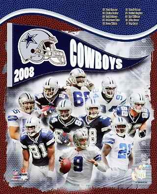 Cowboys 2008 Dallas Team 8X10 Photo