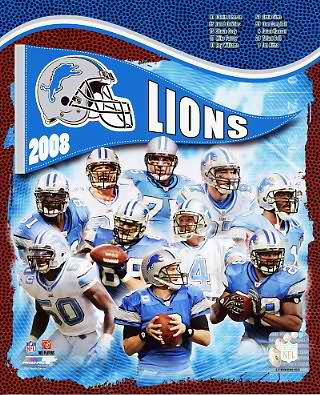Lions 2008 Detroit Team 8X10 Photo