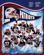 Mike Vrabel, Tom Brady, Junior Seau, Wes Welker Patriots 2008 SUPER SALE New England Team 8x10 Photo