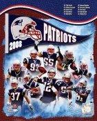 Mike Vrabel, Tom Brady, Junior Seau, Wes Welker Patriots 2008 LIMITED STOCK New England Team 8x10 Photo