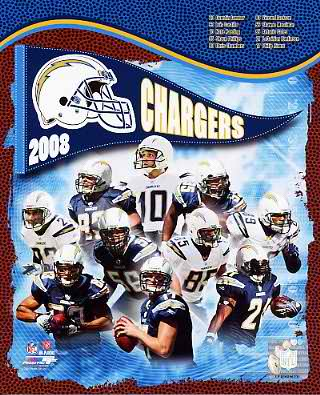 Chargers 2008 San Diego Team 8X10 Photo