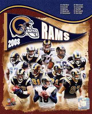 Rams 2008 St. Louis Team 8X10 Photo
