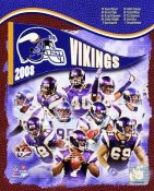 Vikings 2008 Minnesota Team 8X10 Photo