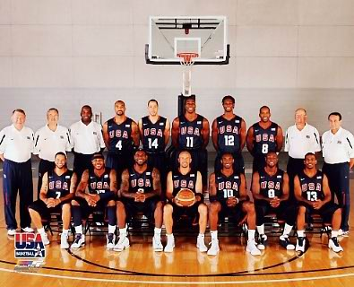 USA 2008 Olympic Basketball Team 8X10 Photo