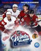 Jonathan Toews, Patrick Kane, Pavel Datsyuk, Henrik Zetterberg Chicago Blackhawks/ Detroit Redwings 09 Winter Classic 8x10 Photo