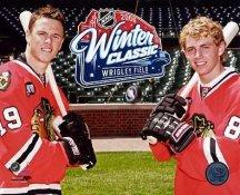 Jonathan Toews & Patrick Kane 09 Winter Classic Chicago Blackhawks 8x10 Photo