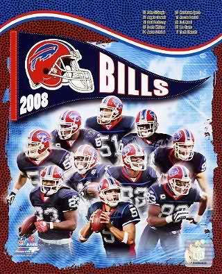 Bills 2008 Buffalo Team 8x10 Photo