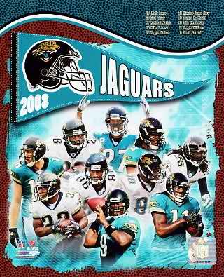 Jaguars 2008 Jacksonville Team 8x10 Photo