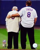Gary Carter & Yogi Berra Final Game at Shea Stadium  New York Mets 8X10 Photo