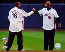 Darryl Strawberry & Dwight Gooden Final Game at Shea Stadium NY Mets 8x10 Photo