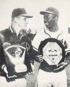 Hank Aaron & Warren Spahn Milwaukee Braves Card Stock 8X10 Photo